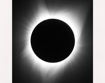 Total Solar Eclipse 2017 MATTED PRINTS Sun Moon Photograph Print Original Signed Mat Matted