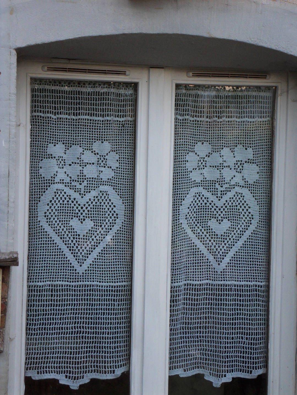 rideau crochet fait main taille xl collection voisins je vous. Black Bedroom Furniture Sets. Home Design Ideas