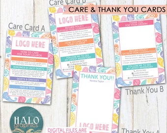 Consultant Care & Thank You Cards - Paisley