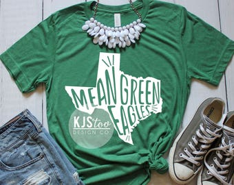 University of North Texas Tee - Green UNT Tee - Mean Green Tee - College Football Tee - UNT Football Tee - UNT Eagles Tee - Mean Green