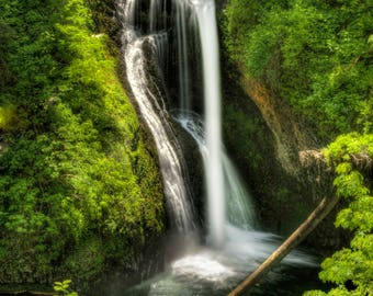 Waterfall photography, Waterfall photo, Lower Butte Creek Falls, Oregon, Landscape photo, Nature, Print, Fine art, Digital download
