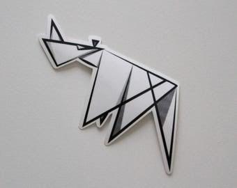 Abstract Rhino sticker⎜Awesome sticker ⎜Rhino