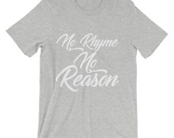 No Rhyme No Reason Men's short sleeve t-shirt, men's t-shirt, relationship t-shirt, gift for him, birthday gift