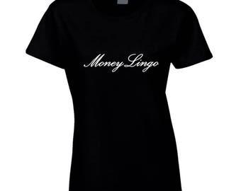 Money Lingo Womens White Logo T Shirt