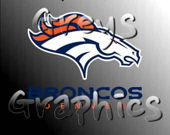 Denver Broncos Primary Logo with Logotype Full Color - SVG - DXF - EPS - Vectors