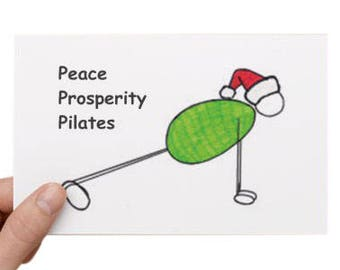 Pilates Christmas Card