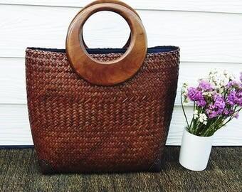 Handmade Shopping Style Bag. 100% Natural Materials