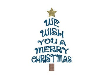 We Wish You A Merry Christmas - Embroidery Design - Pattern - Design - Christmas Towel Design - Machine Embroidery
