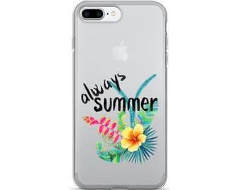 Always Summer - Tropical Island Vacation Floral Beach iPhone 7/7 Plus Case