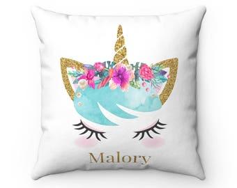 Unicorn Cushion, Personalised Unicorn Cushion, Personalised Cushion, Unicorn Pillow, Unicorn Gift, Gift, Personalised Gift, Pillow, Cushion