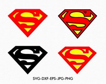 Superman svg, Superman clipart, Superman logo clip art, Super Heroes logos Svg, use with Cricut & Silhouette