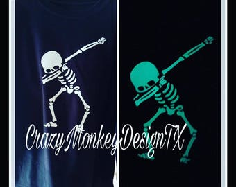 Dabbing Skeleton shirt ADULT Size