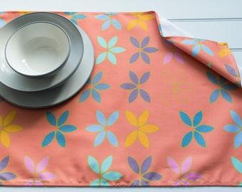 Tea Towel Made from 100% Cotton in Bayleaf Orange Pattern