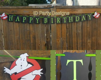 GHOSTBUSTERS BIRTHDAY BANNER GHoST BUSTeRS BaNNER GHOSTBUSTErS BANnER GHOSTBUSTeR PARtY GHOSTBUsTER DeCOR