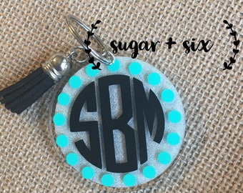 Personalized Acrylic Keychain -- Block Monogram
