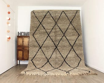 Free Shipping! 10.1'x6.7' BENI OUARAIN Rug Handmade / Shaggy Rug / Moroccan Rug / Morrocan Carpet / Berber Rug
