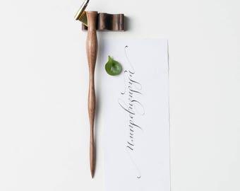 Oblique Pen Holder, Calligraphy pen, Calligraphy tool, Oblique Pen, Calligraphy gift, Calligraphy accessories, Nib Holder, Calligraphy wood