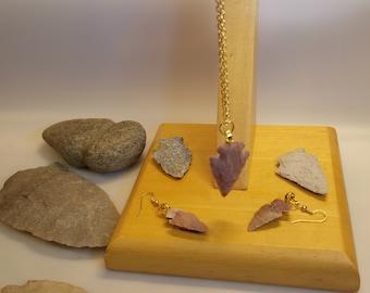 arrowhead necklace and earrings
