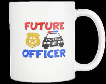 Future Police Officer Novelty Gift Coffee Mug