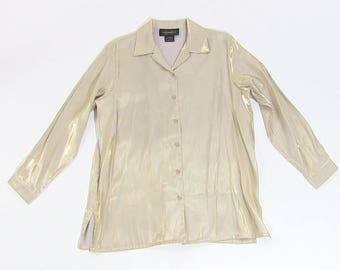 Gold shimmery 90s blouse
