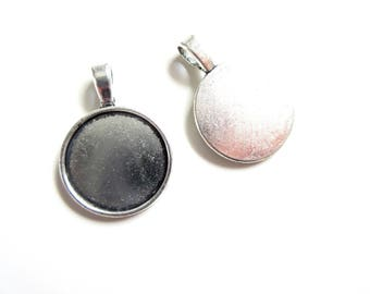 4 holders silver cord 20mm cabochon