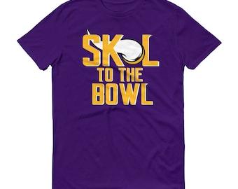 SKOL To The Bowl VIKINGS Purple Minnesota Vikings Shirt Custom Short-Sleeve Purple T-Shirt Skol Vikings Shirt Bring It Home