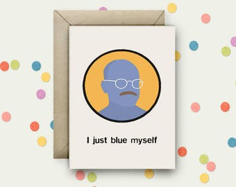 Arrested Development Pop Art and Quote A6 Blank Greeting Card with Envelope