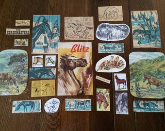Hold Your Horses paper ephemera pack