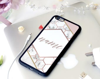 Cool fashionable Marble Effect Name Iphone Case
