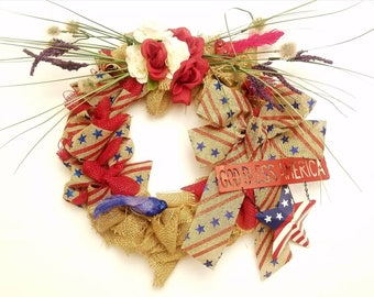 God Bless America - Patriotic Wreath