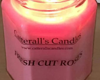 Fresh Cut Roses 100% Natural scented candle