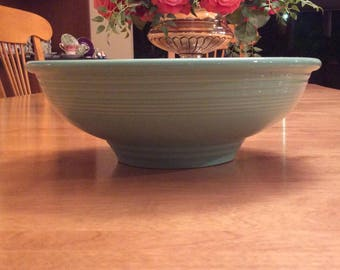 "Fiesta Ware Homer Laughlin China Serving Bowl 9 3/4"" Turquoise."