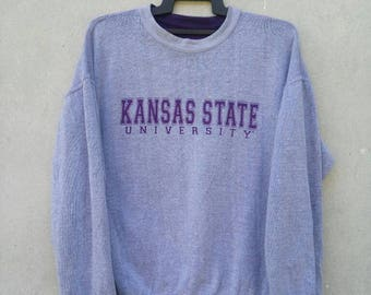 Kansas State University Riversible Sweatshirt Large Size