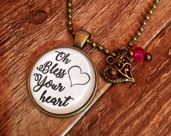 Oh Bless Your Heart Necklace