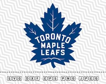 SVG Toronto Maple Leafs Vector Layered Cut File Silhouette Cameo Cricut Design Template Stencil Vinyl Decal Tshirt Heat Transfer Iron