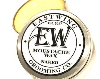 Moustache Wax 100% natural in neutral aroma. Free UK Shipping & free gift bag