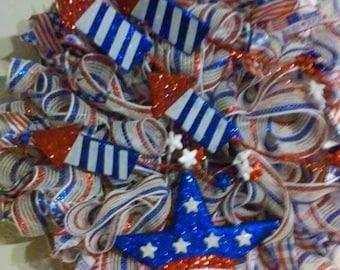 Patriotic Fourth of July Wreath/ Doorhanger