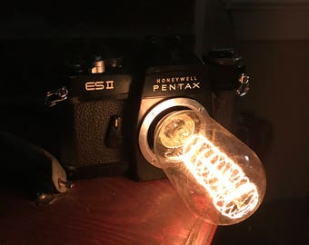 Antique Black Pentax Honeywell ESII Camera Lamp