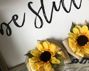 Sunflower Hair Bow / Fall Hair Bow