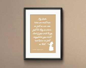 Alice Through the Looking Glass, Lewis Carroll, Alice Through the Looking Glass Quote, Through the Looking Glass Print, Gift for a Friend