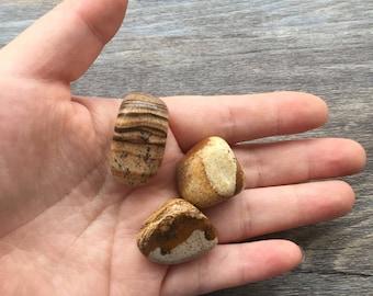 raw rough natural picture jasper stone pendant-random select wire wrap pendant supply stone-mineral sample necklace stone pendant