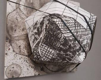 Sculpture made of a print
