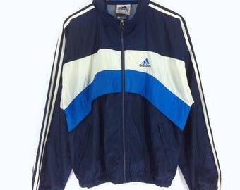 Vintage Adidas Equipment Windbreaker | Adidas Equipment Multi Colour Windbreaker | Adidas Colour Block Windbreaker | Retro Rap Tees Hip Hop