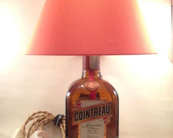 Cointreau bottle table lamp, recycled handmade (recycled / Upcycled)