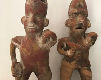 Vintage Myan / Aztec Clay Sculptures