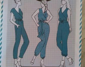 Cotton + Chalk sewing pattern 11 Jenna Jumpsuit New & unused sizes 6-20