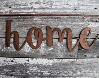Home Metal Sign, home sign, metal sign, metal, farmhouse decor, family