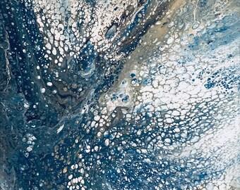 Acrylic fluid painting on canvas