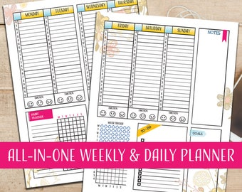 ALL-IN-ONE Weekly & Daily Planner