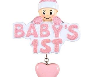 Baby's 1st w/Girl In Pink Cap